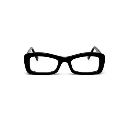Armação para óculos de Grau Gustavo Eyewear G34 15. Cor: Preto. Haste preta.