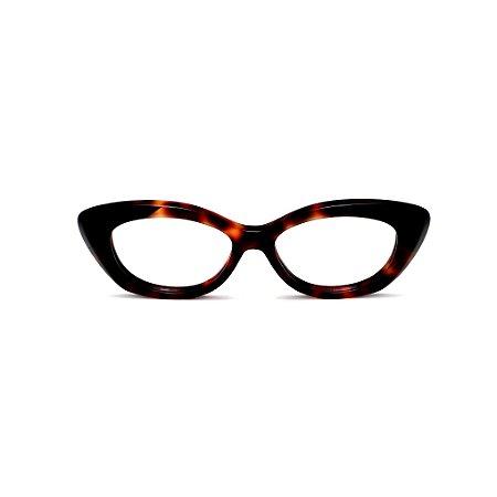 Armação para óculos de Grau Gustavo Eyewear G103 7. Cor: Anial print. Haste animal print.