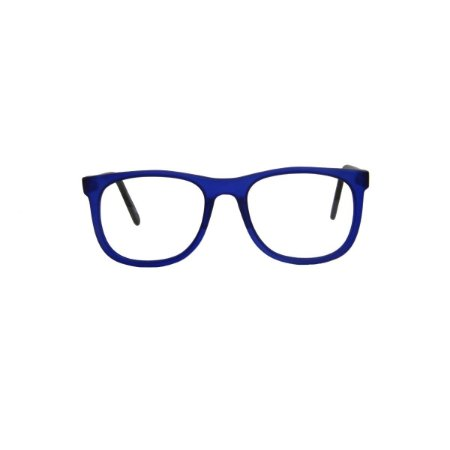 Armação para óculos de Grau Gustavo Eyewear G84 300. Modelo masculino. Cor: Azul translúcido. Haste preta.