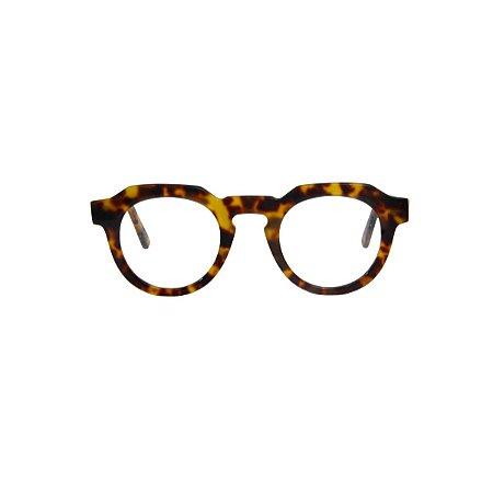 Armação para óculos de Grau Gustavo Eyewear G66 500. Cor: Animal print. Haste animal print.