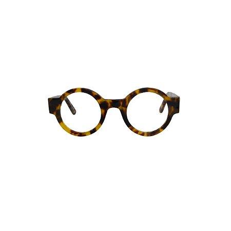 Armação para óculos de Grau Gustavo Eyewear G62 100. Modelo masculino. Cor: Animal print. Haste animal print.