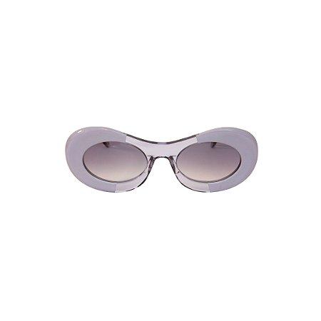 Óculos de Sol Gustavo Eyewear G89 3. Cor: Cinza com fumê translúcido. Haste fumê translúcido. Lentes cinza