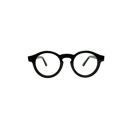 Armação para óculos de Grau Gustavo Eyewear G29 7. Modelo masculino. Cor: Preto. Haste preta.
