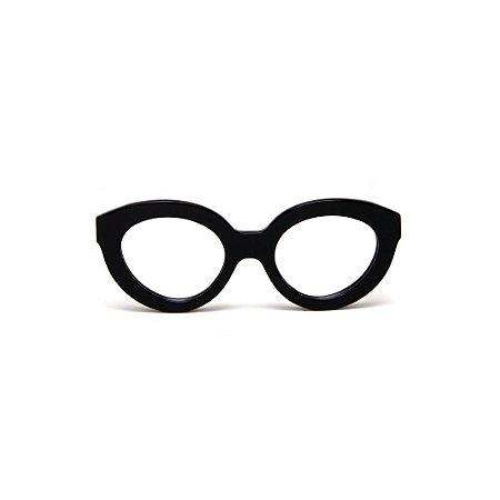 Armação para óculos de Grau Gustavo Eyewear G25 1. Cor: Preto. Haste animal print.