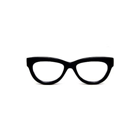 Armação para óculos de Grau Gustavo Eyewear G73 1. Cor: Preto. Haste preta.
