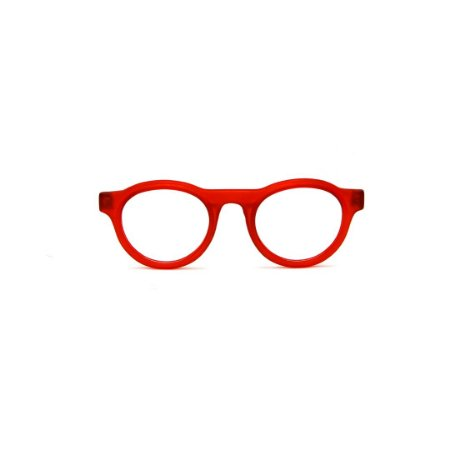 Armação para óculos de Grau Gustavo Eyewear G77 1. Cor: Vermelho translúcido. Haste animal print.