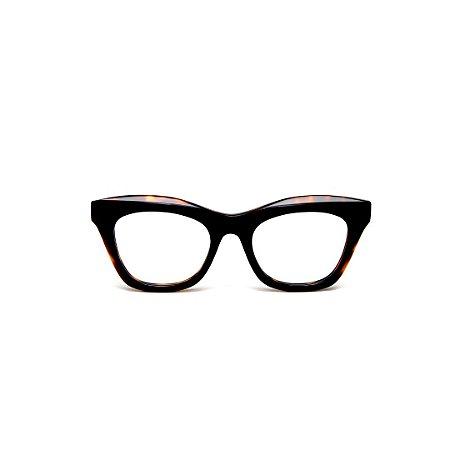 Armação para óculos de Grau Gustavo Eyewear G69 B. Cor: Animal print. Haste animal print.