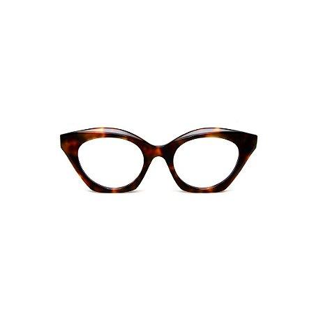 Armação para óculos de Grau Gustavo Eyewear G71 24. Cor: Animal print. Haste animal print.