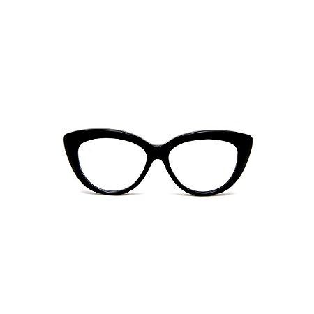 Armação para óculos de Grau Gustavo Eyewear G107 6. Cor: Preto. Haste preta.