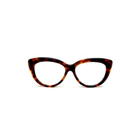 Armação para óculos de Grau Gustavo Eyewear G107 8. Cor: Animal print. Haste animal print.
