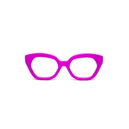 Armação para óculos de Grau Gustavo Eyewear G70 3. Cor: Rosa opaco. Haste animal print.