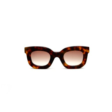 Óculos de Sol Gustavo Eyewear G31 9. Cor: Animal print. Haste animal print. Lentes marrom