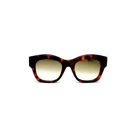 Óculos de Sol Gustavo Eyewear G58 10. Cor: Animal print. Haste animal print. Lentes marrom.