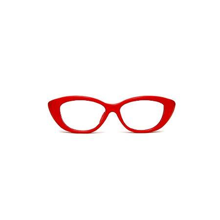 Armação para óculos de Grau Gustavo Eyewear G50 10. Cor: Vermelho opaco. Haste animal print.