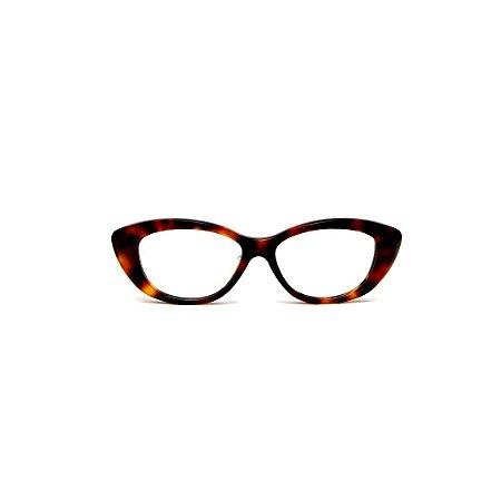 Armação para óculos de Grau Gustavo Eyewear G50 15. Cor: Animal print. Haste animal print.