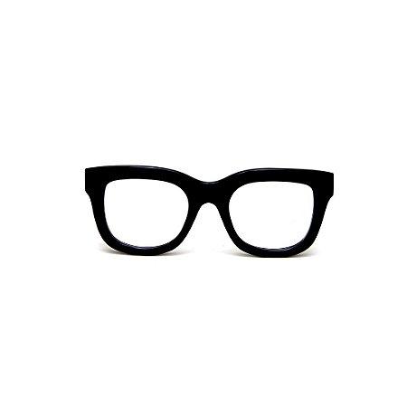 Armação para óculos de Grau Gustavo Eyewear G57 15. Cor: Preto. Haste animal print.