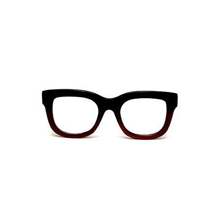 Armação para óculos de Grau Gustavo Eyewear G57 20. Cor: Verde e marrom translúcido. Haste verde.