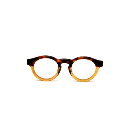 Armação para óculos de Grau Gustavo Eyewear G29 16. Cor: Animal print e âmbar translúcido. Haste animal print.
