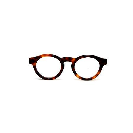 Armação para óculos de Grau Gustavo Eyewear G29 16. Cor: Animal print. Modelo masculino. Haste animal print.