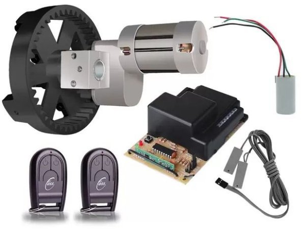 Kit Motor Portas de Enrolar de até 7,5 m² Cremalheira Nylon Roller - Fass