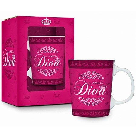 Caneca Porcelana Amiga Diva Premium