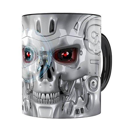 Caneca Exterminador do Futuro 3D Print Preta