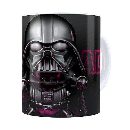 Caneca Darth Vader 3D Print Star Wars Violet Branca