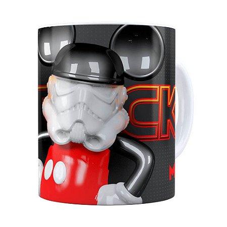 Caneca Mickey Star Wars 3D Print Branca