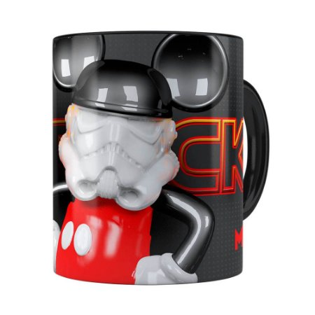 Caneca Mickey Star Wars 3D Print Preta