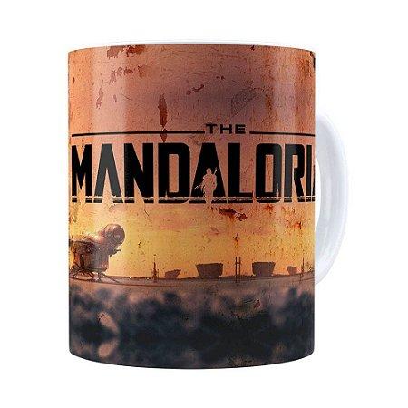 Caneca The Mandalorian 3D Print Branca
