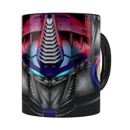 Caneca Optimus Prime 3D Print Transformers Preta