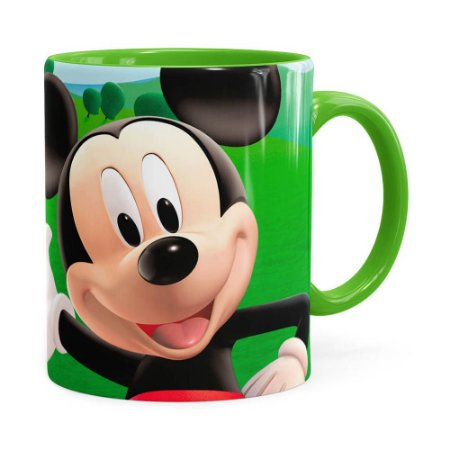 Caneca A Casa do Mickey Mouse Verde Claro