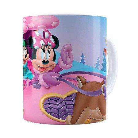 Caneca Minnie Mouse Rena Branca
