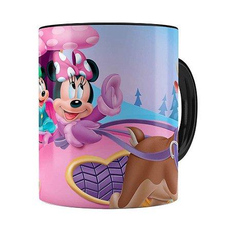 Caneca Minnie Mouse Rena Preta
