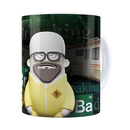 Caneca Breaking Bad 3D Print Branca