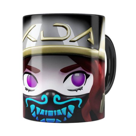 Caneca Akali 3D Print League of Legends Preta