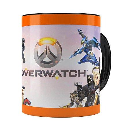 Caneca Overwatch Game 3D Print v02 Preta