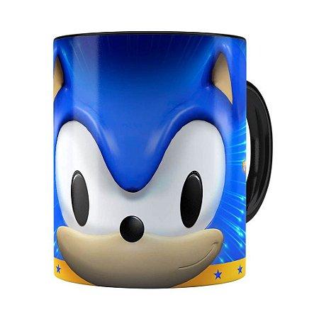 Caneca Sonic 3D Print Preta
