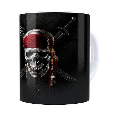 Caneca Piratas do Caribe v01 Branca