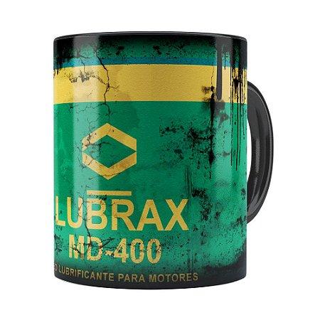 Caneca Lata de Oleo Retro Oil Lubrax v01 Preta