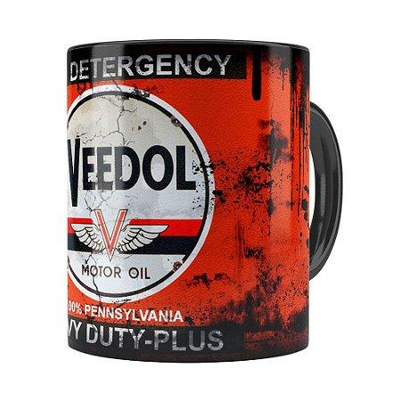 Caneca Lata de Oleo Retro Oil Veedol Preta