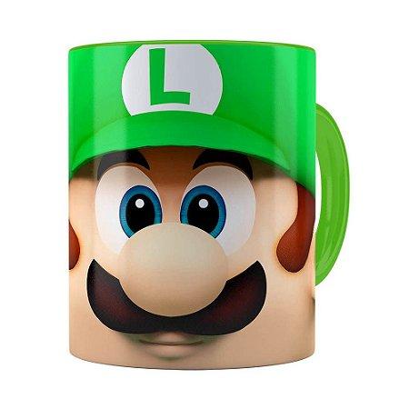 Caneca Luigi 3D Print Super Mario Verde Claro