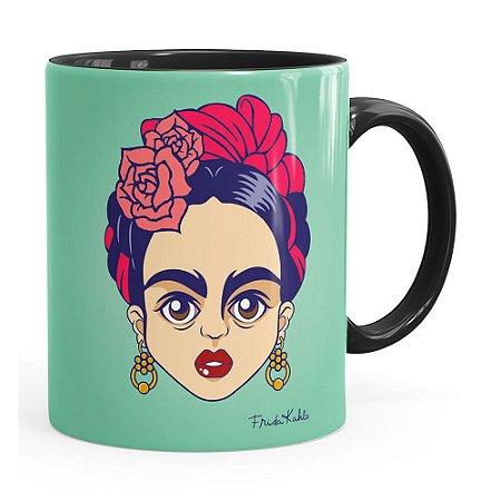 Caneca Frida Kahlo Arte Preta