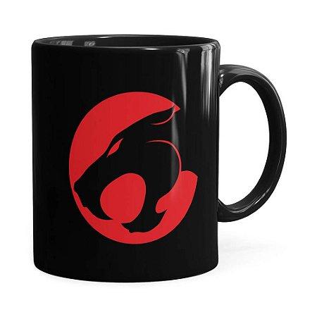Caneca Thundercats Logo Preta