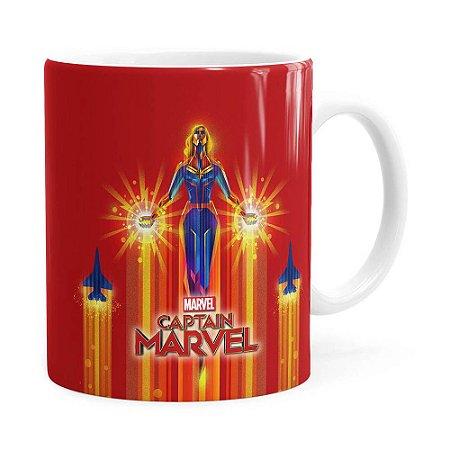 Caneca Capitã Marvel Filme v02 Branca