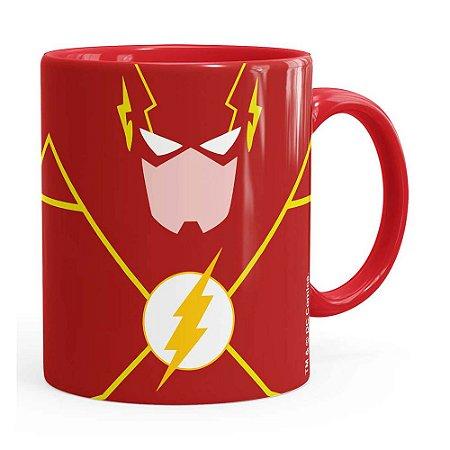 Caneca The Flash Minimalista Vermelha