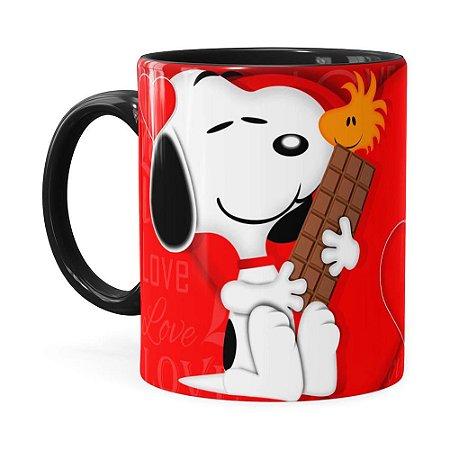 Caneca Snoopy Love Preta