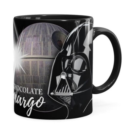 Caneca Star Wars Darth Vader Lado Negro Preta