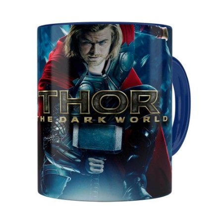 Caneca Thor The Dark World Filme Azul Escuro