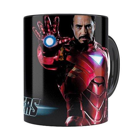 Caneca Os Vingadores Iron Man Preta